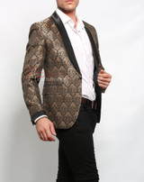 vintage steampunk coat - Gold Blazer for men