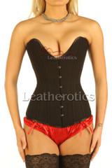 8258 black cotton corset - front