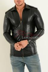 Mens Fine Leather Shirt  3