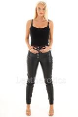 Leather Leggings Skinny Fit 1