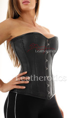 Perforated Leather Corset Over bust - side
