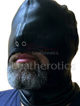 Black leather gimp mask - front