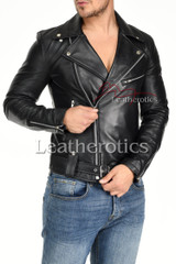 Men's Leather Jacket - 3