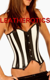 overbust leather corset