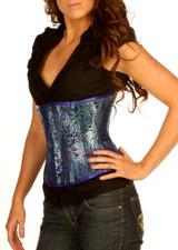 1811 blue brocade corset