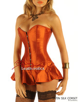 Corseted Skirt Skirted Corset Full Steel Boned Tight Lacing