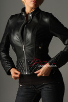 Full Grain Leather Ladies Jacket Fully Lined Funky Top