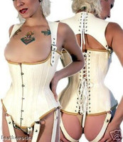Unisex Full Grain Leather Made To Measure Bespoke Corset TV CDS 1274