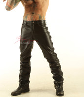 Mens real Leather trousers