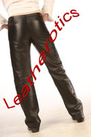 real leather men's dress trousers img3