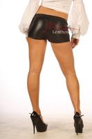 Goat Nappa Leather elasticated Shorts 501 back