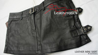 Full Grain Leather micro mini Skirt Tight Low Waist Hipster image 4