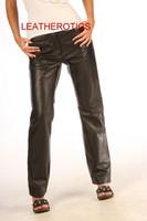 Full Grain leather dress trousers pic 2