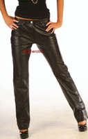 Skinny Leather  Women's Jeans Trousers pic 1