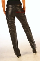 Skinny Leather  Women's Jeans Trousers pic 3