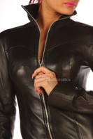 Leather Mini Dress Top Jacket pic 1
