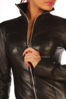 Leather Mini Dress Top Jacket pic 1