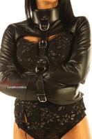 straitjacket bondage leather black