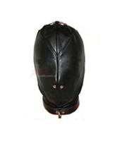 Leather isolation slave mask