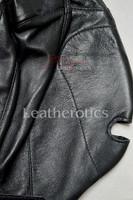 Leather slave mask m4 - details