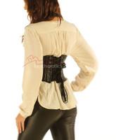 Leather Waistcoat Corset Tight Fit Steel Boned Vest top