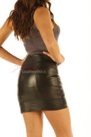 Luxury 100% Real Leather Skirt Sexy Tight Fit back view