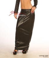 Luxury Real Leather skirt lambskin Full Length image 2