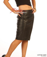Luxury Real Leather Women's Pencil Skirt image 2