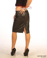 Luxury Real Leather Women's Pencil Skirt image 3