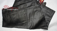 Luxury Real black Leather Women's Pencil Skirts image 5