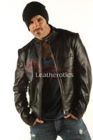 Men's Real Leather Detailed Jacket Goat Skin