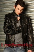 Men's Leather Fashion Jacket Goat Skin Soft Supple