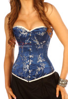Blue floral corset