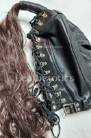 black leather wig mask 3