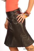 Leather Hobble Style Skirt