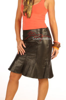Leather Hobble Style Skirt tight fit aniline finish Goat skins