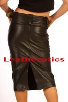 leather long pencil skirt model 2