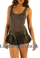 Micro Mini Leather skirt model 2