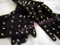 Leather STEEL SPIKE  hand GLOVES