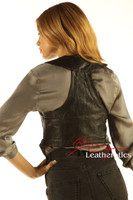 Soft Leather Fashion Waist Coat Ladies Waistcoat WC1 - back