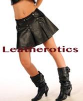 Soft Leather Kilt Skirt
