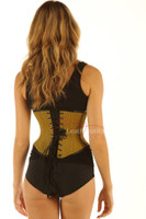 Strong Under Bust Green Cotton Twill Corset Basque image 2