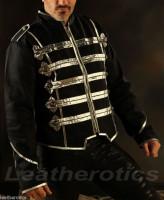 Men's Military Short Black Cotton Jacket Top