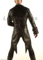 Leather Tailcoat Gothic Steampunk Morning Dress Suit Coat Bray Wyatt