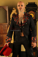 Men's Cotton Tailcoat Wedding Red Steampunk Vintage Coat STPGR front