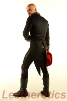 Men's Cotton Tailcoat Wedding Red Steampunk Vintage Coat STPGR side