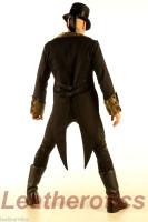 Men's Cotton Tailcoat Golden Steampunk Vintage Morning Suit Coat STPGG back