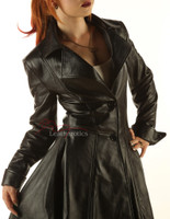 Ladies Leather Victorian Coat