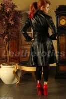 Ladies Leather Victorian Coat image 4