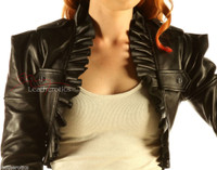Leather steampunk top